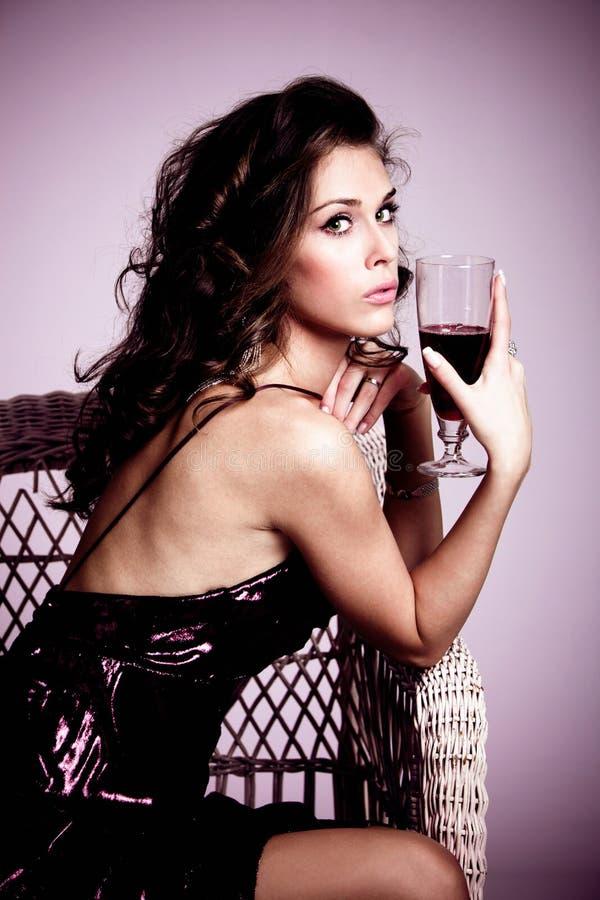 winekvinna fotografering för bildbyråer