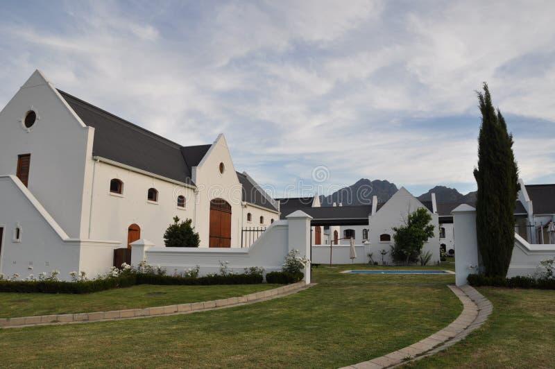 Winelands Южная Африка усадьбы плащи-накидк голландские стоковые фотографии rf