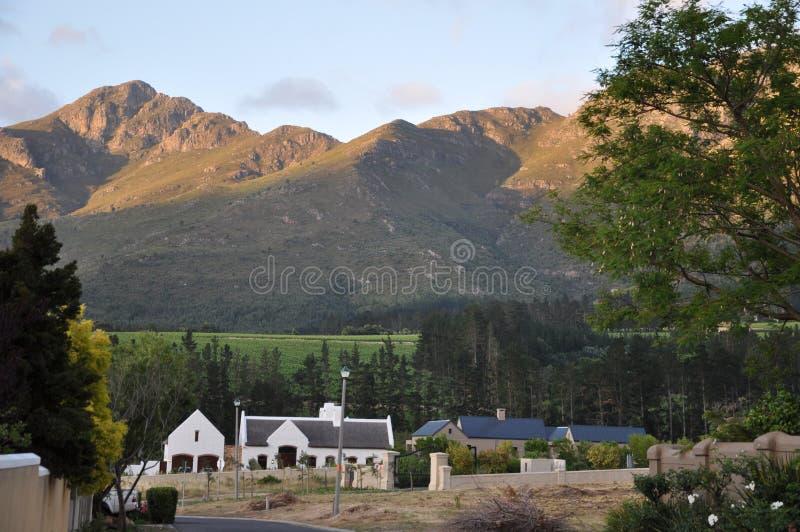 winelands stwarzać ognisko domowe franschhoek południe Africa obraz stock