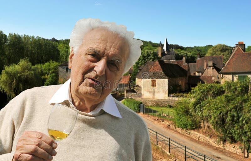 Winemaker aîné image libre de droits