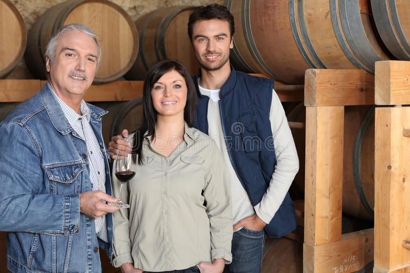 Winemaker Giving A Tour Royalty Free Stock Image
