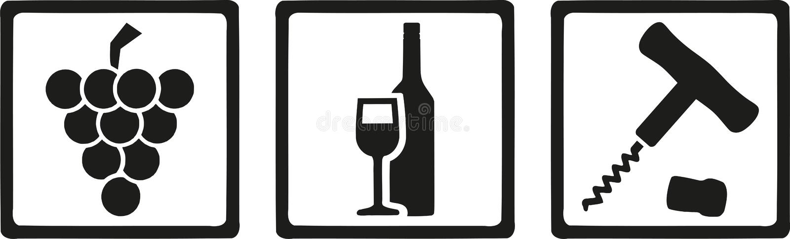 Winemaker icons vector. Occupation vector royalty free illustration