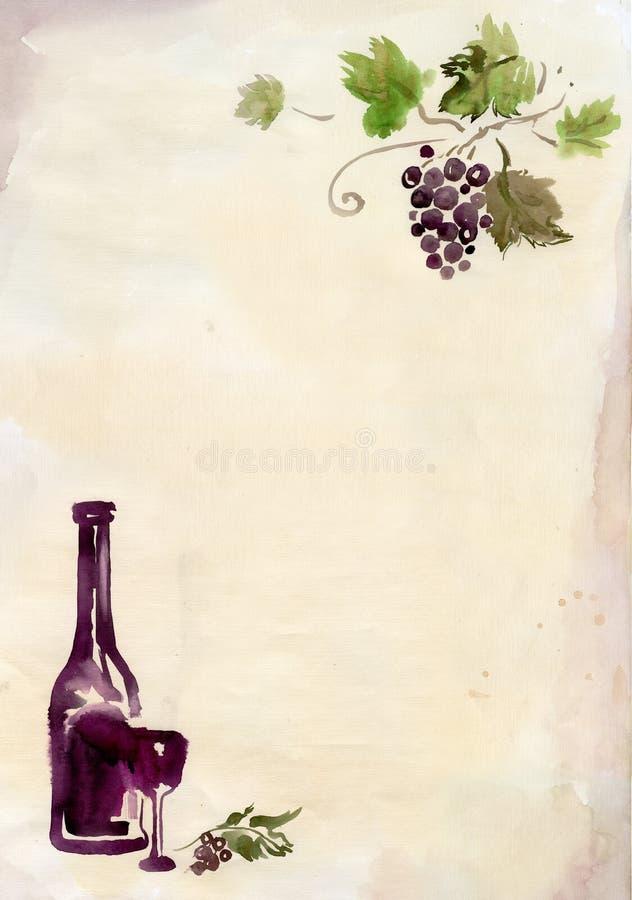 Winemaking background royalty free illustration