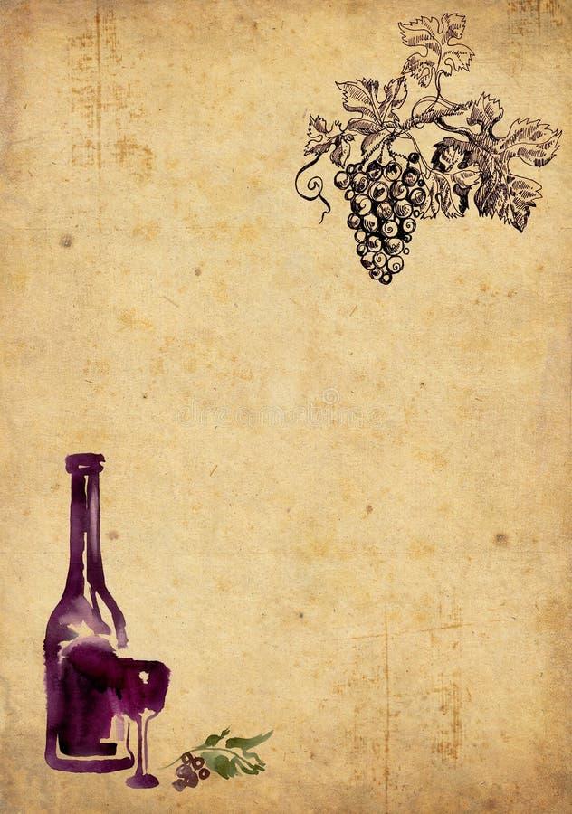 Winemaking background vector illustration