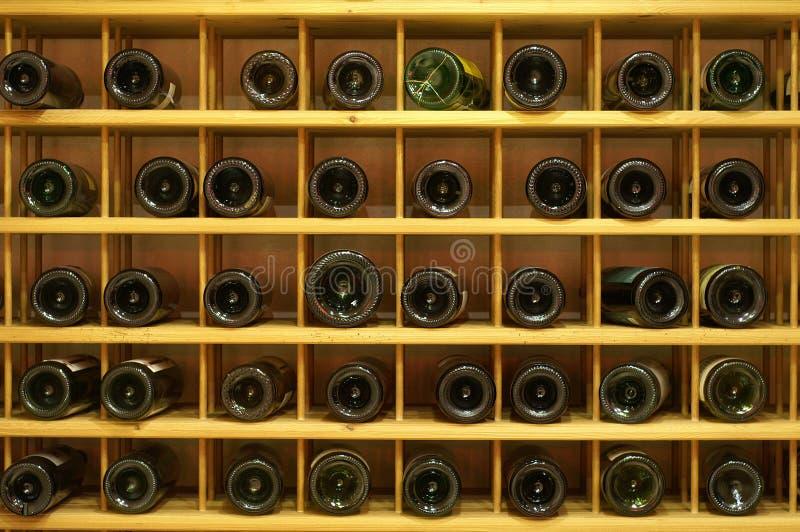 Winerack lizenzfreies stockbild