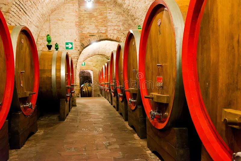 Wineries in Montepulciano. Antique shops in the center of Montepulciano in Tuscany royalty free stock photo