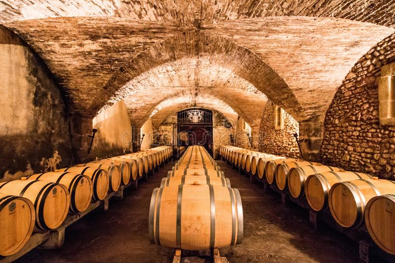Winery in France stock photo