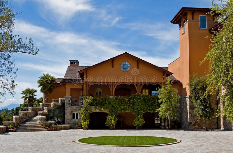 Winery in Napa Valley royalty free stock photography