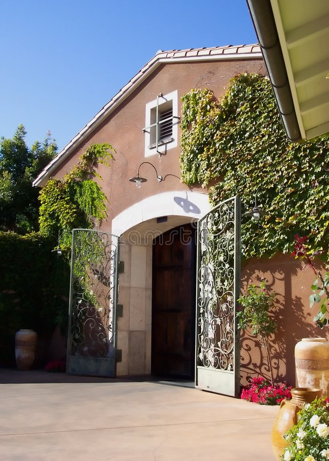 Winery-Napa Valley California stock photo