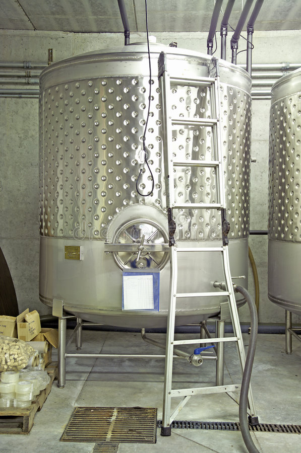 Winery-Single Vat royalty free stock image