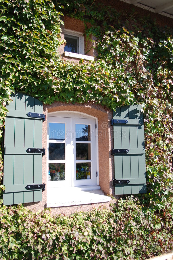 Winery Window royalty free stock photography