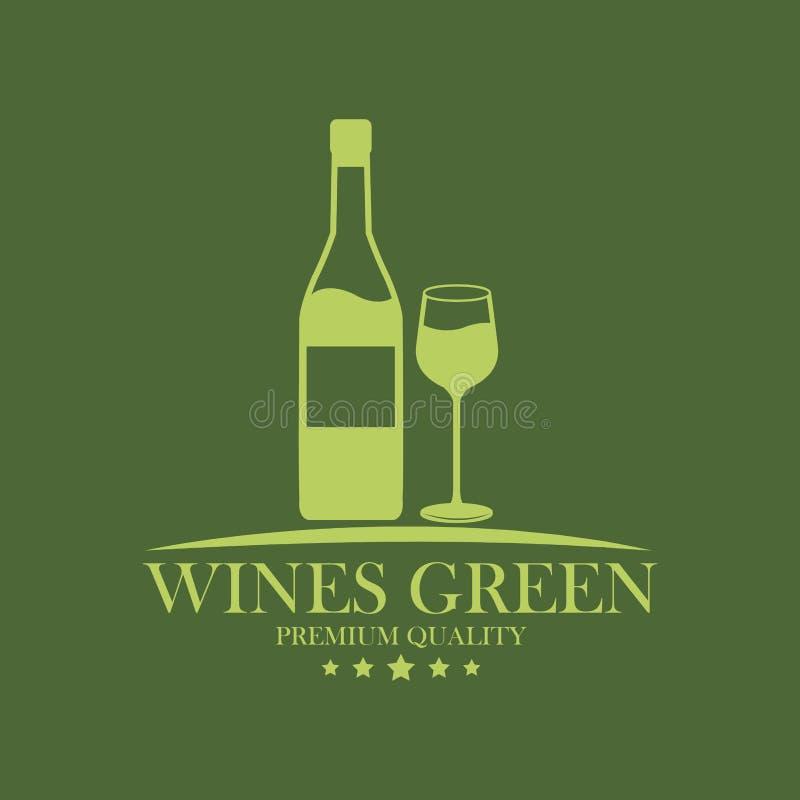 Wines green premium quality image stock illustration