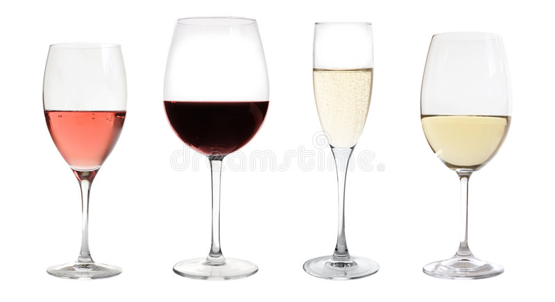 Wines la collection d'isolement image stock
