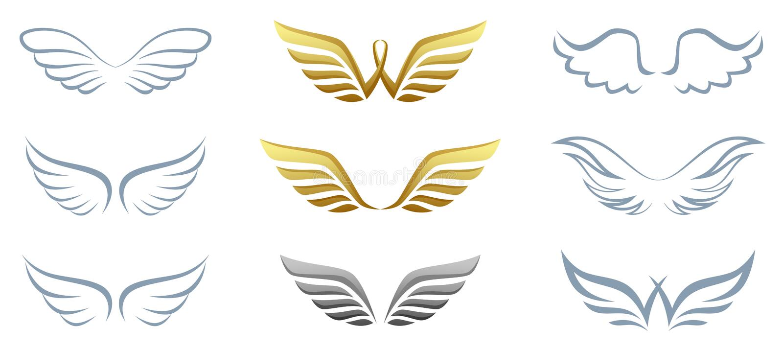 Download Wing stock vector. Image of hawk, element, isolated, dove - 25918189