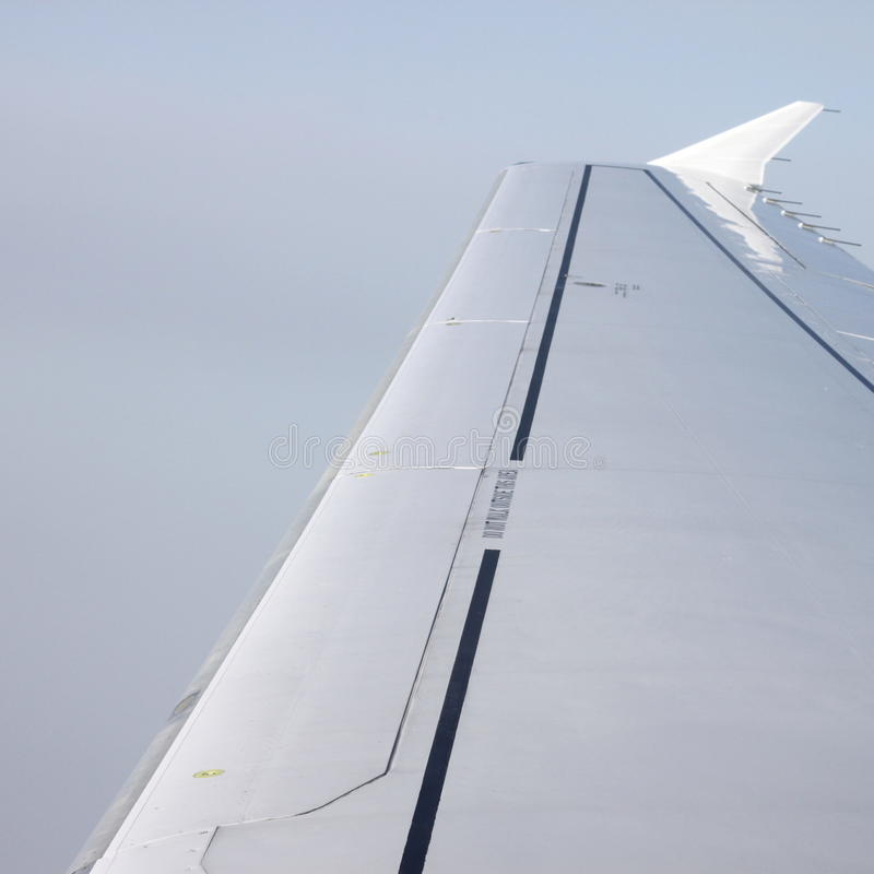 Wing of an airoplane stock photography