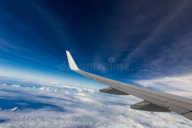 Download Wing of an airplane stock image. Image of skyline, cloudscape - 28861293