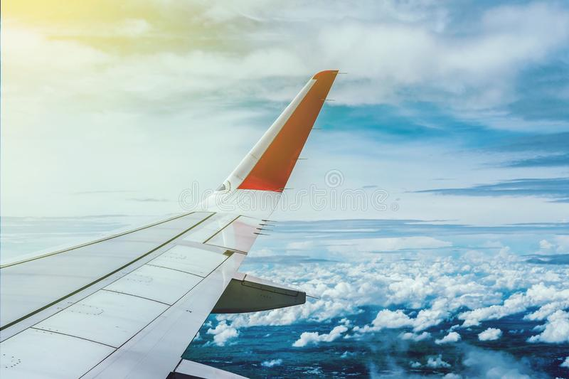 Wing Airplane fotografie stock