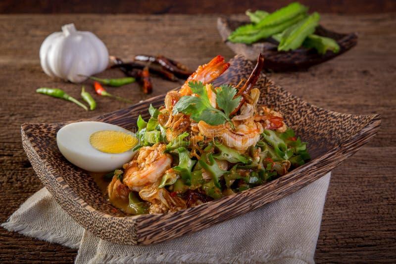 Wing Bean Shrimp Salad stock afbeelding