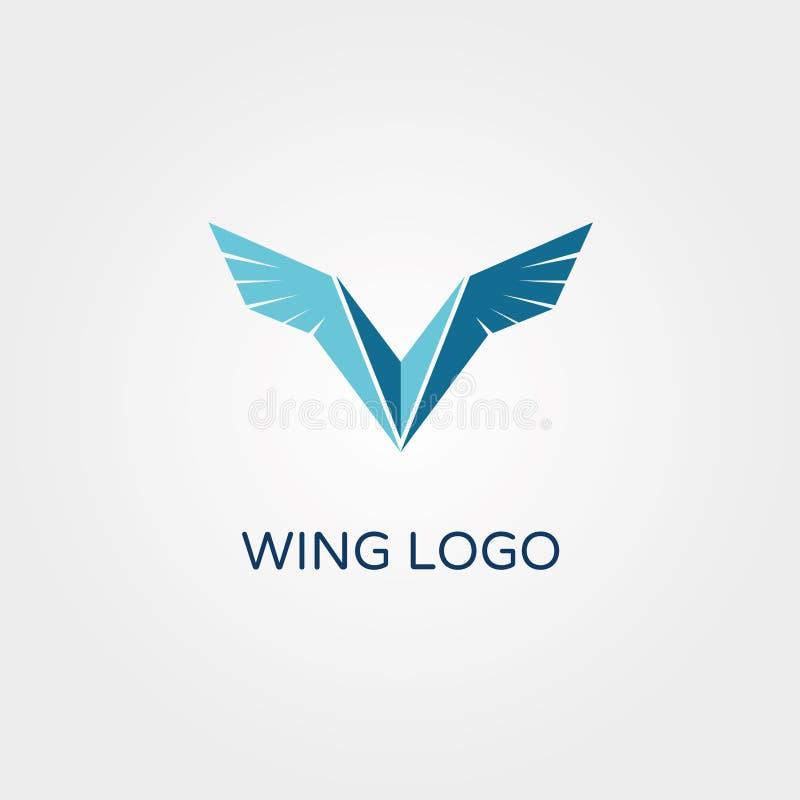 WING Blue Falcon Logo Vetora ilustração royalty free