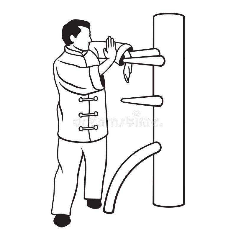 Wing Chun vektor illustrationer