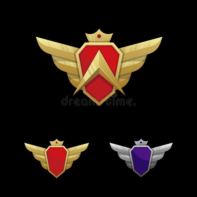 Wing Emblem Illustration Vector Template stock illustratie