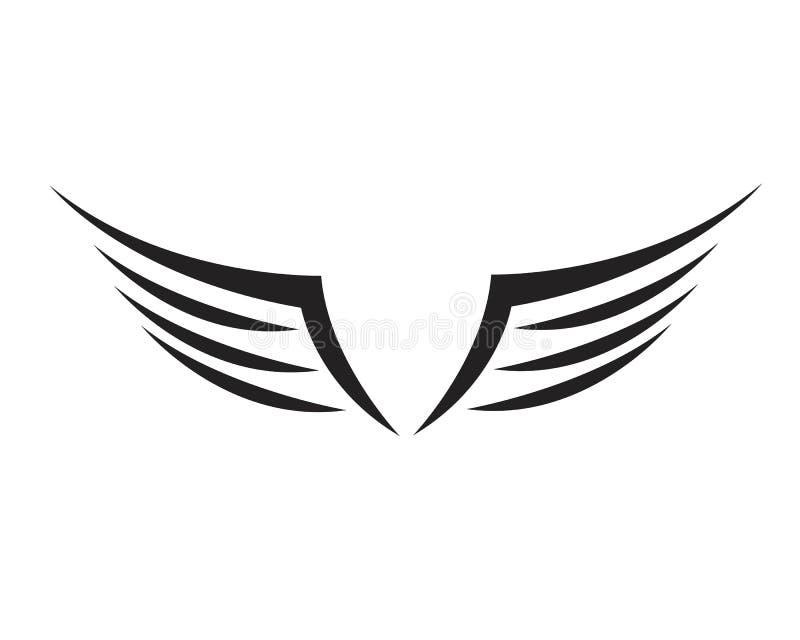 Wing Falcon Logo Template-Vektor vektor abbildung