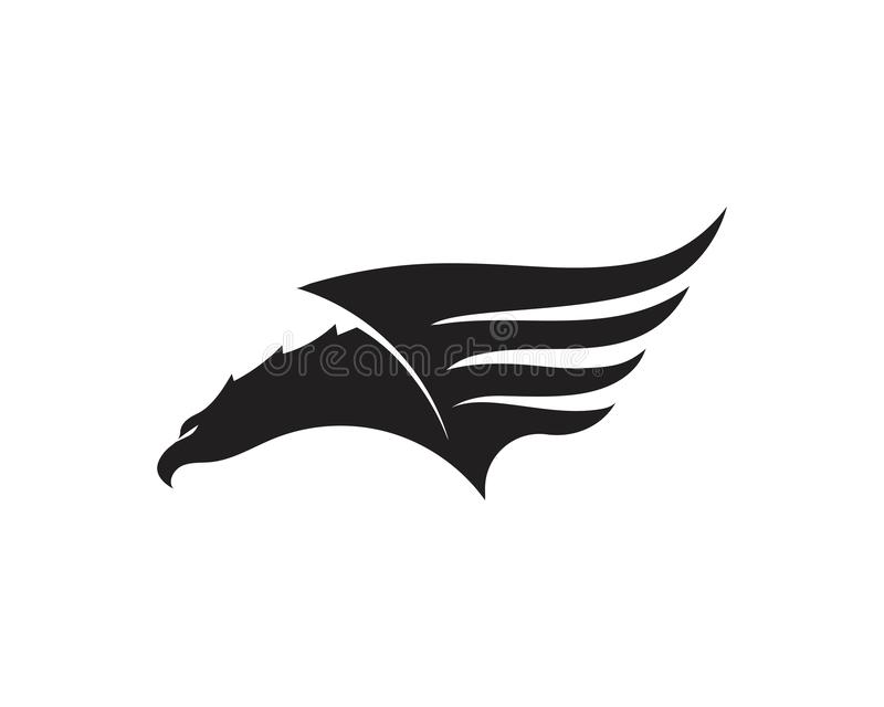 Wing Falcon Logo Template vektorillustration stock illustrationer