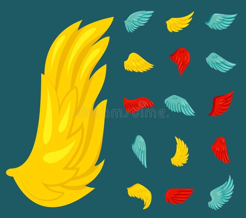 Wing Icon Flat stock illustrationer