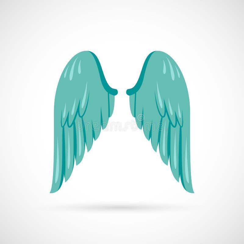 Wing Icon Flat royaltyfri illustrationer