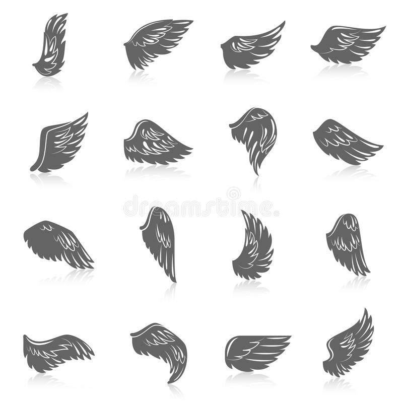 Wing Icon Set illustration de vecteur