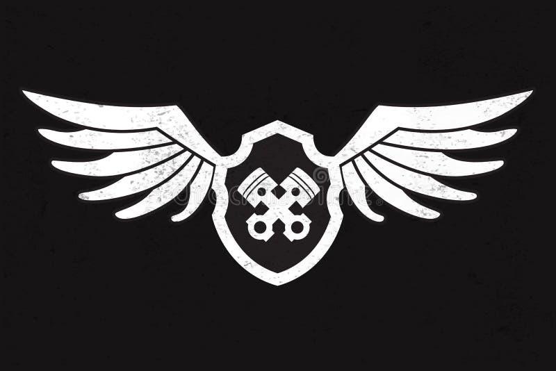 Wing Logo des véhicules à moteur illustration libre de droits