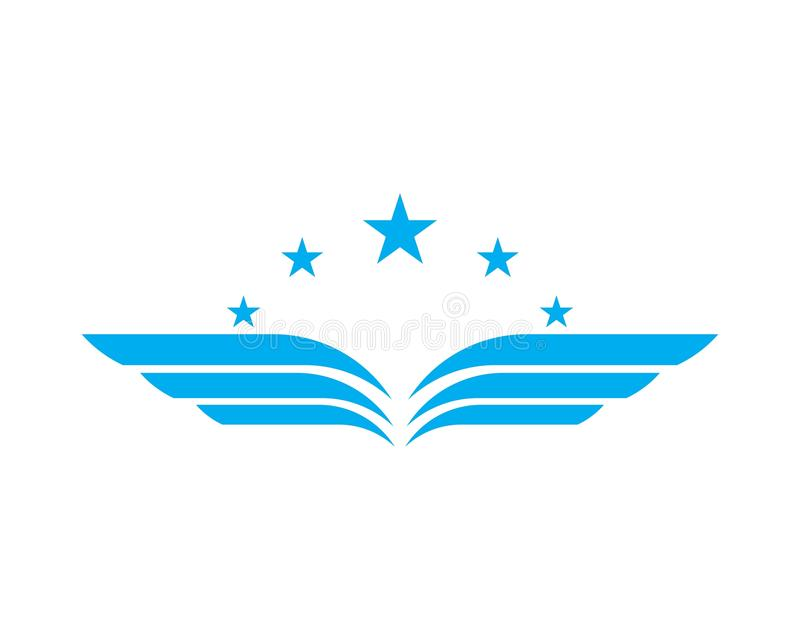 Wing logo and symbol template royalty free stock images