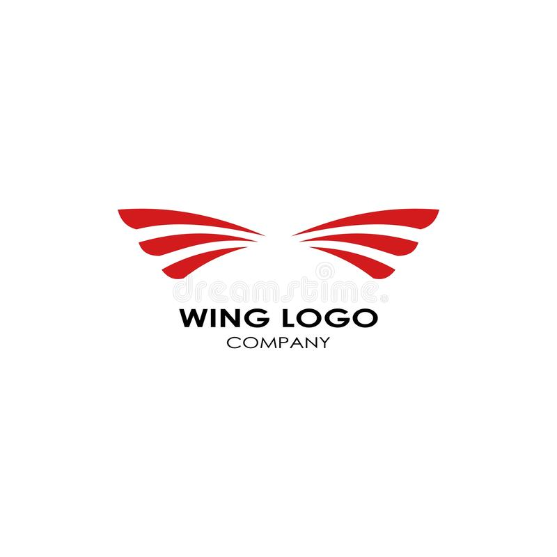 Wing logo template, fly design vector icon illustration. Wings, abstract, business, symbol, graphic, shape, element, emblem, isolated, bird, modern, concept vector illustration