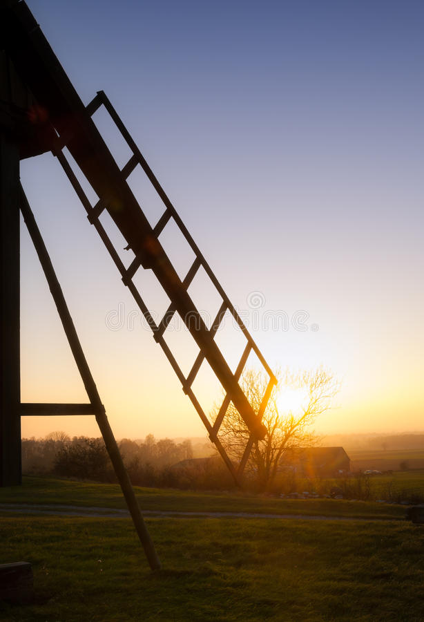 Free Wing Of An Old Wooden Windmill Royalty Free Stock Image - 46320506