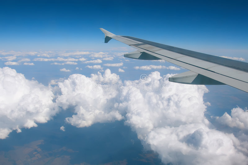 Download Wing Over The Clouds Stock Image - Image: 3279441