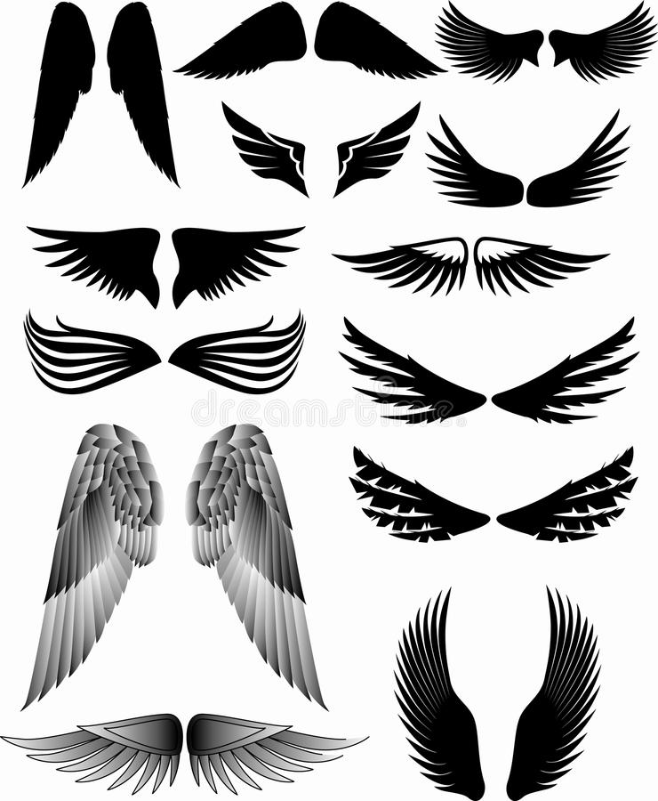 Download Wing silhouette stock vector. Illustration of eagle, flock - 10928786