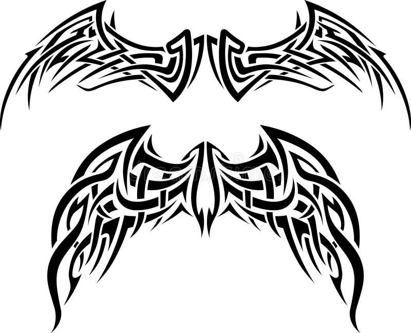 Wing Tattoo abstrato ilustração stock