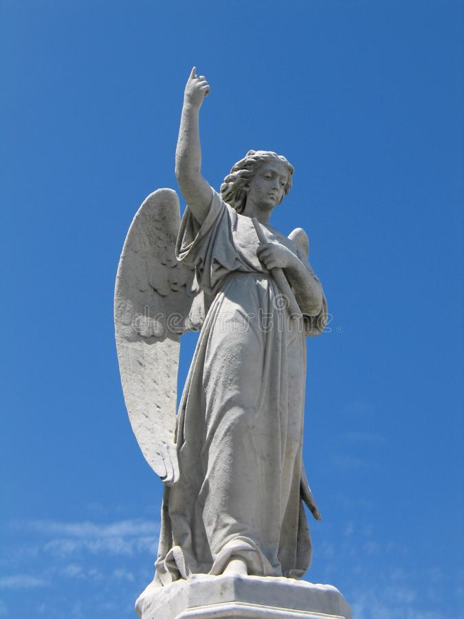 Winged angel statue royalty free stock photos