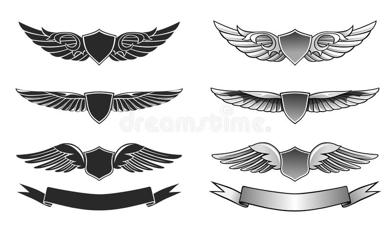 Download Winged Awards Set stock vector. Illustration of ornament - 28168931