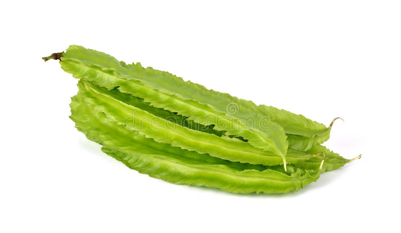 Winged bean on white background. stock photos