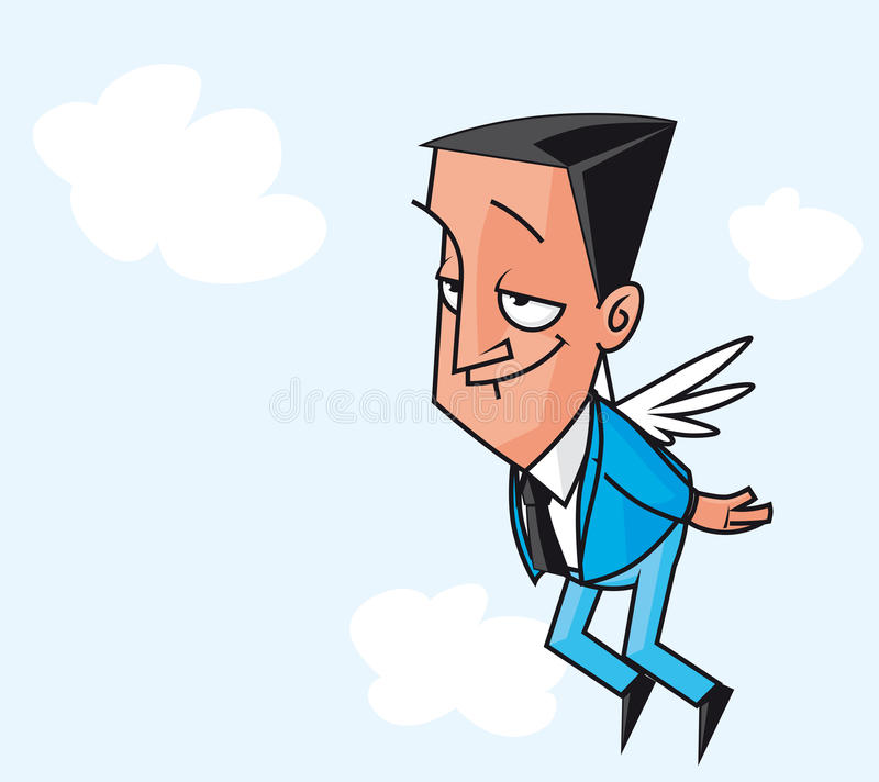 Winged Businessman Royalty Free Stock Photography