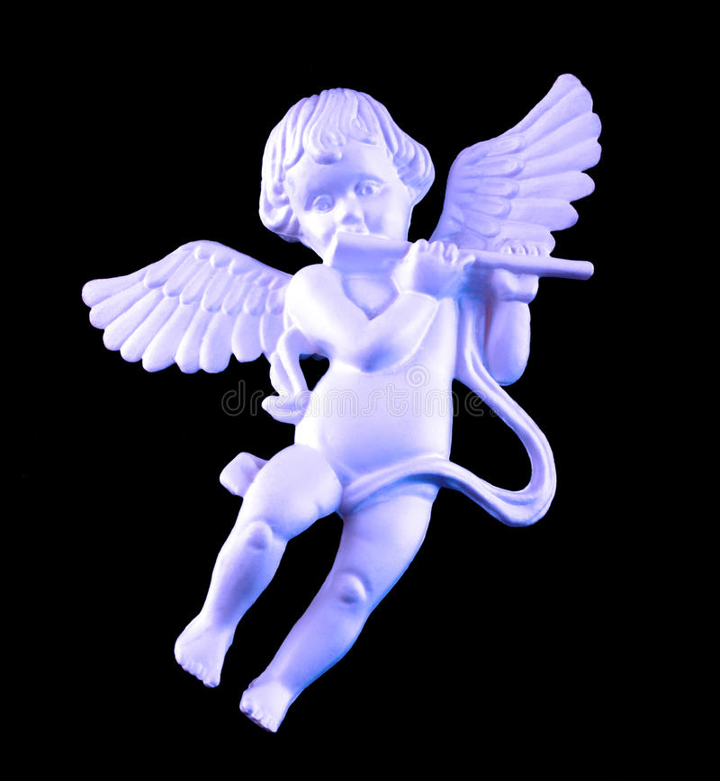 Winged cherub royalty free stock images