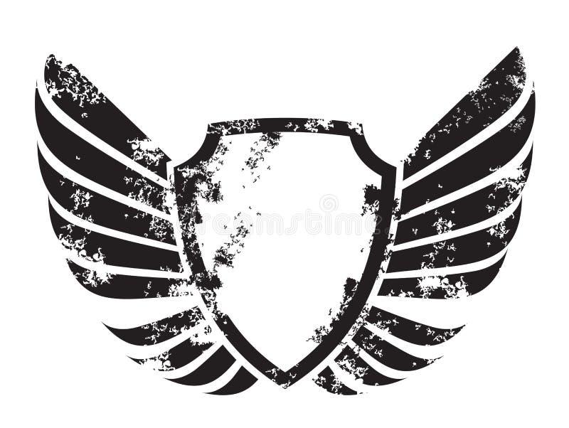 Winged crest royalty free illustration