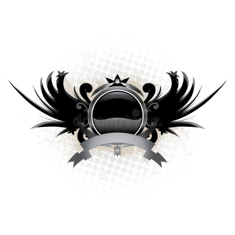 Winged Emblem Royalty Free Stock Photography