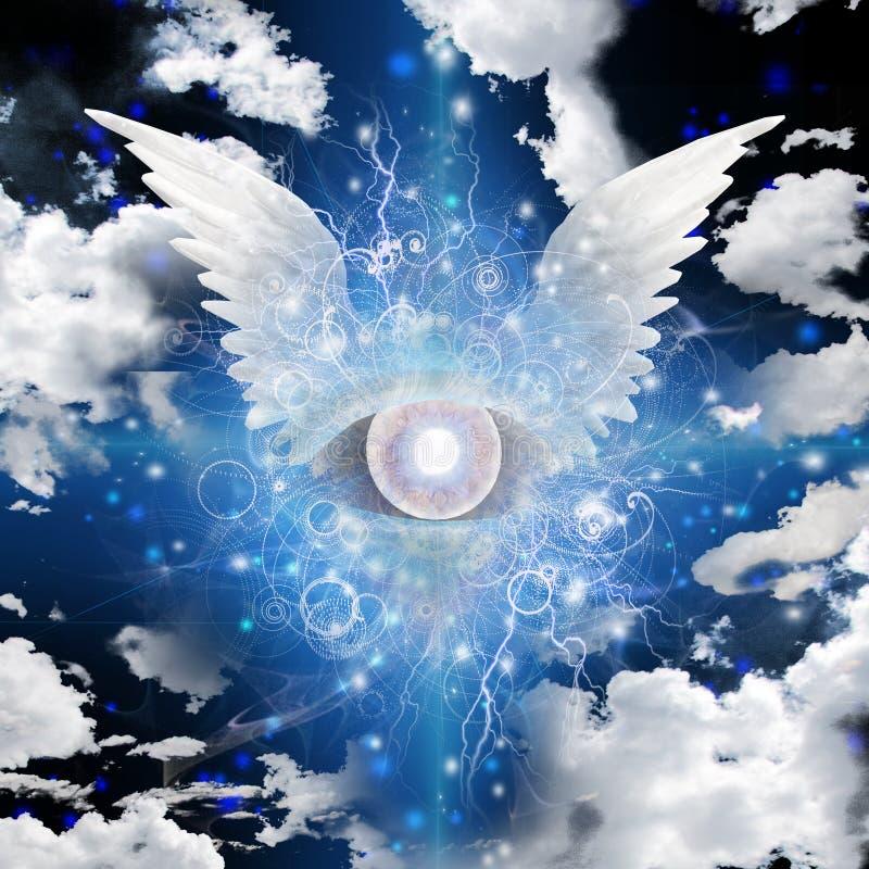 Winged Eye stock illustration