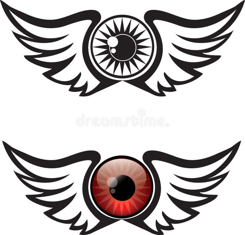 Winged Eye Illustration