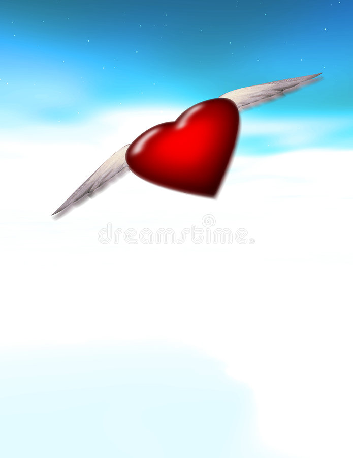 Download Winged heart stock illustration. Image of wings, flight - 2522061