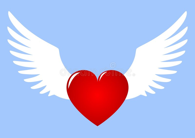 Download Winged Heart stock vector. Image of attachment, illustration - 8559407