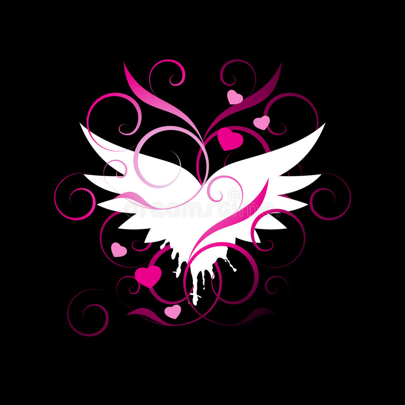 Free Winged Heart Background Stock Photos - 7842203