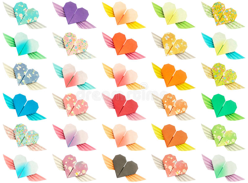 Download Winged-hearts stock image. Image of valentine, colourful - 12542325